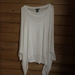 Chelsea and Theodore white blouse